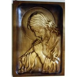 """Płaskorzeźba """"Modlący się Jezus"""""""