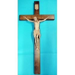 Krzyż - wysokość 80 cm - rzeźbiona drewniana pasyjka