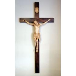 Krzyż - wysokość 135 cm - rzeźbiona drewniana pasyjka
