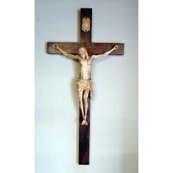 Krzyż - wysokość 100 cm - rzeźbiona drewniana pasyjka