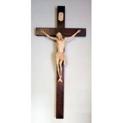 Krzyż - wysokość 90 cm - rzeźbiona drewniana pasyjka