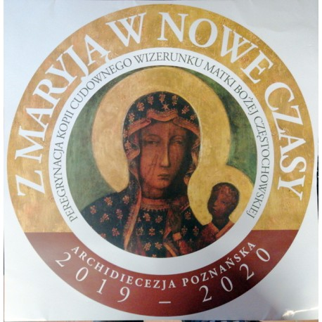 Plakat - logo peregrynacji obrazu MB Częstochowskiej (48 x 48 cm)