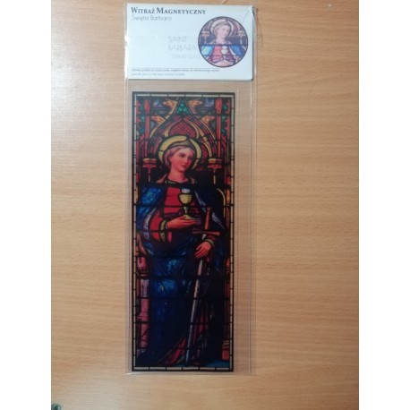 Witraż magnetyczny - św. Barbara