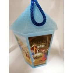 Lampion adwentowy  (niebieski) - 16 cm