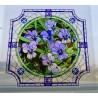Witraż magnetyczny - Kwiatki (Bratki)