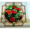 Witraż magnetyczny - Kwiatki (Aksamitka)