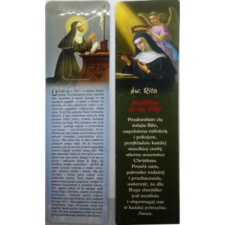 Zakładka do książki - Modlitwa do św. Rity