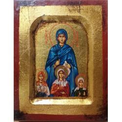 Ikona - św. Zofia z córkami Wiarą, Nadzieją i Miłością