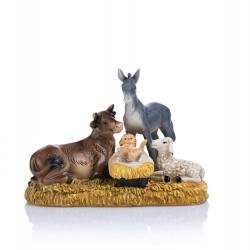 Dzieciątko Jezus ze zwierzętami - figurka