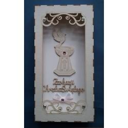 Pudełko na Chrzest Święty z życzeniami