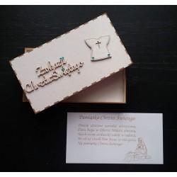 Pudełko na Chrzest Święty na pieniądze