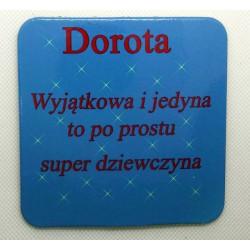 """Podkładka pod kubek """"Dorota"""""""