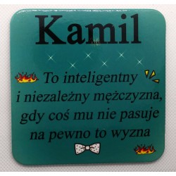 """Podkładka pod kubek """"Kamil"""""""