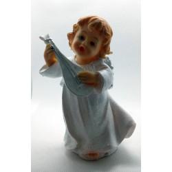 Aniołek z instrumentem - żywica