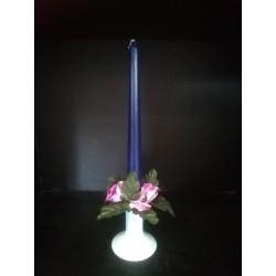 Świecznik ze świeczką - zestaw niebieski