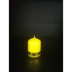 Świeczka lichtarzowa - żółta