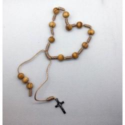 Bransoletka - dziesiątka różańca - krzyżyk Benedyktyński